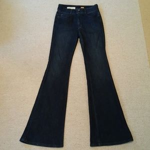 Anthro.Pilcro and the Letterpress Dark Flare Jeans
